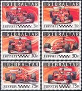 Gibraltar 2004 FERRARI/ Motor Racing/ Cars/ GP/ F1/ Grand Prix/ Transport 6v set (n13549)