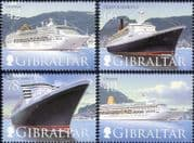 Gibraltar 2007 Ships/ Cruise Liners/ Nautical/ Boats/ Transport 4v set (s662w)