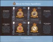 Gibraltar 2012 RAF Squadrons/ Badges/ Planes/ Aviation/ Military/ Royal Air Force   4v m/s (b141h)