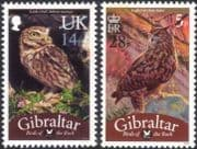 Gibraltar 2013 Owls/ Birds/ Nature/ Wildlife/ Conservation/ Surcharges 2v set o/p (b141a)