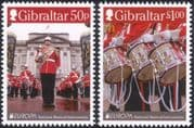 Gibraltar 2014 Europa/ Music/ Drums/ Military Band/ Uniforms/ Musicians/ Soldiers 2v set (s662g)