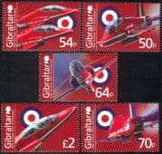 Gibraltar 2014 Red Arrows 50th Anniversary/ RAF/ Aircraft/ Planes/ Royal Air Force/ Aviation/ Military/ Transport 5v set (s662h)