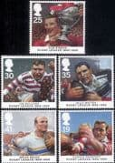 Great Britain 1995 Rugby League 100th/ Sports/ Games/ People  5v set (n18243)