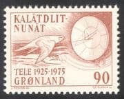Greenland 1975 Telecommunications/ Gyr Falcon/ Radio/ Bird/ Telecomms 1v (n23535)