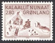 Greenland 1986 Art/ Artists/ Thule/ Hunting/ Sport/ Games/ Buildings 1v (n32173)