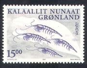 Greenland 2001 Europa  /  Water Resources  /  Krill  /  Marine  /  Nature 1v (n38628)