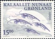 Greenland 2001 Europa/ Water Resources/ Marine Life/ Krill/ Plankton/ Nature/ Animals  1v set n20597