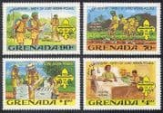 Grenada 1982 Baden-Powell  /  Scouts  /  Scouting  /  Youth  /  Leisure  /  Bees 4v set (b3487)