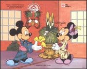 Grenada 1991 Disney/ Mickey Mouse/ Minnie/ Cartoons/ Animation/ Phila Nippon/ StampEx/ Imperforate/ IMPERF m/s (d00272)