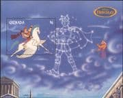Grenada 1998 Disney/ Hercules/ Pegasus/ Horse/ Films/ Cinema/ Cartoons/ Animation 1v m/s (b247)