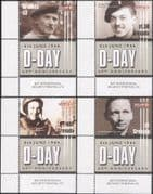 Grenada 2004 D-Day Landings 60th/ People/ Montgomery/WWII/  Soldiers/ Military/ War 4v set (n15405d)