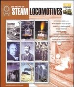 Grenada 2004  Trains/ Steam Engines/ Locomotives/ Railway/ Transport/ Bridge  9v sht  (s1762c)