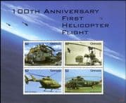 Grenada 2007 Aviation/ Helicopters/ Aircraft/ Transport/ Military/ Planes  4v m/s (s5441h)