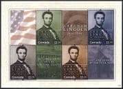 Grenada 2011 Abraham Lincoln  /  Politics  /  Politicians  /  People  /  History 4v m  /  s (n40854)