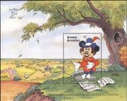 Grenada Grenadines 1990 Disney/ Mickey/ Shakespeare/ Writers/ Cartoons/ Animation 1v m/s (b254)