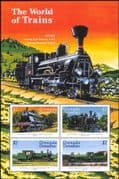 Grenadines of Grenada 1999  Trains/ Steam Engines/ Locomotives/ Rail/ Railways  4v m/s (n15817)
