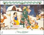 Grenadines of St Vincent 1991 Christmas/ Disney/ Snow White/ Dwarf/ Cartoons/ Animation 1v m/s b409c