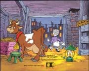 Grenadines of St Vincent 1992 Disney/ Cow/ Lamp/ Fire/ StampEx/ Cartoons/ Cattle 1v m/s (b1992)