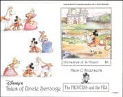 Grenadines of St Vincent 1992 Disney/ Princess/ Pea/ Stories/ Cartoons 1v m/s (b2224)