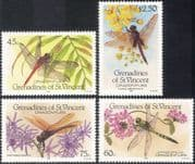 Grenadines of St. Vincent 1986 Dragonflies/ Insects/ Nature/ Dragonfly 4v set (b7944)