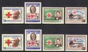 Guatemala 1960 Red Cross  /  Refugee  /  Surch 8v set (n20380)