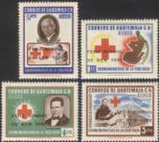Guatemala 1964 Red Cross/ Medical/ Birds/ World Fair optd surcharge 4v set (n28154)