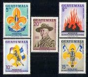 Guatemala 1966 Scouts  /  Baden-Powell  /  Fire  /  Flame 5v n27389