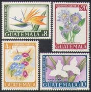 Guatemala 1967 Flowers  /  Plants  /  Nature  /  Orchids  /  Map 4v set (n37190)