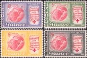 Guinea 1963 Red Cross 100th / Health/ Welfare/ Medical/ Space Capsule/ Maps  4v set (n43505w)