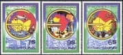 Guinea 1982 Trains Planes/ Ships/ Railways/ Aircraft/ Aviation/ Mining/ Farming Crops/ Oil Well/ Gems/ Industry/ Commerce/ Transport 3v set (n42937)