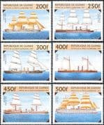Guinea 1997 Warships/ Ships/ Boats/ Sailing/ Navy/ Nautical/ Transport 6v set (b5290)