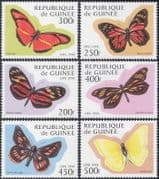 Guinea 1998 Butterflies/ Insects/ Nature/ Conservation/ Butterfly 6v set (b4534)
