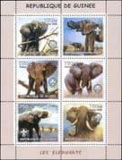 Guinea 2002  African Elephants/ Wildlife/ Animals/ Nature/ Scouts  6v sht (s5032)