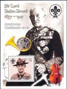 Guinea 2002  Scouts/ Scouting/ Lord Baden-Powell/ Music/ French Horn/ Cello 1v m/s (s3575)