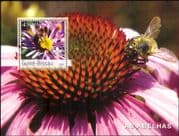 Guinea-Bissau 2003  Bees/ Flowers/ Insects/ Nature/ Wildlife/ Scouts/ Bee 1v m/s (n12307)