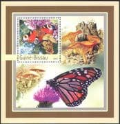 Guinea Bissau 2003 Butterflies/ Fungi/ Flowers/ Insects/ Plants/ Nature 1v m/s (n10347)