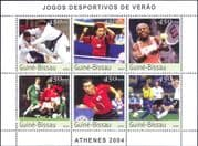 Guinea-Bissau 2003 Olympic Sports/ Football/ Tennis/ Table Tennis/ Judo/ Soccer  6v m/s (n12307g)