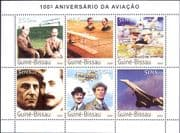 Guinea Bissau 2003 Powered Flight/ Aircraft/ Planes/ Aviation/ Wright Brothers/ Concorde 6v sht (n12116)