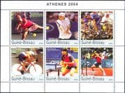 Guinea-Bissau 2003  Sports/ Cycling/ Tennis/ Table Tennis/ Bikes/ Bicycles  6v m/s (n12307j)