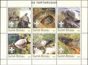Guinea Bissau 2003 Turtles/ Tortoises/ Animals/ Nature/ Wildlife/ Scouts 6v m/s (n12646)