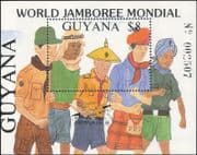 Guyana 1988 Scouts/ Scouting/ World Scout Jamboree/ Uniforms 1v m/s overprint (s2285d)