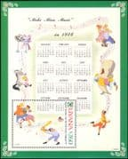 Guyana 1991 Christmas/ Disney/ Greetings/ Casey/ Sports/ Music/ Cartoons/ Animation 1v  m/s (b1605z)