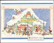 Guyana 1991  Christmas/ Disney/ Greetings/Mickey's House/ Cartoons/ Animation 1v m/s (b409b)