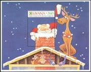Guyana 1991  Disney/ Christmas/ Reindeer/ Santa/ Birds/ Mice/ Cartoons/ Amimation 1v m/s (n26690)