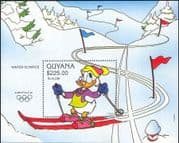 Guyana 1992 Disney/ Olympics/ Winter Olympic Games/ Donald/ Skiing/ Sports  1v m/s (ad1006)