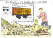 Guyana 1992 Model Railways/ Goods Wagons/ Trains/ Rail/ Toys/ Transport/ StampEx 1v m/s (b9790g)