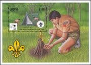 Guyana 1995 Scouts/ Scouting/ World Scout Jamboree/ Camp Fire/ Tents/ Camping 1v m/s (s2285c)