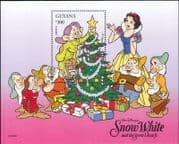 Guyana 1996 Christmas/ Disney/ Snow White/ Dwarfs/ Cartoons/ Animation/ Cinema/ Films 1v m/s (b6268)