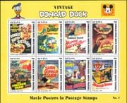 Guyana 1996  Donald Duck Movie Posters/ Disney/ Baseball/ Sports/ Lion/ Bees 8v sht (b453a)