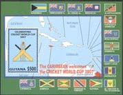 Guyana 2007 Cricket World Cup Championships/ Sports/ Games/ Map/ Flags 1v m/s (n17379)